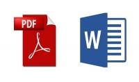 تحويل ملفات pdf إلى word والعكس