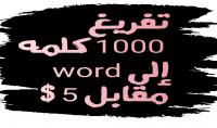 تفريغ 1000 كلمه إلى word مقابل 5 $