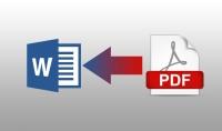 تحويل ملفات من PDF إلى word.