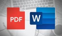 تحويل ملفات PDF الي Word بكل احترافية وذلك باللغة العربية او الانجليزية 500 كلمة ب 5 $