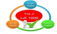 ترجمة 1000 كلمة باحترافية