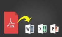 تحويل ملف PDF الى Word او Excel او power point