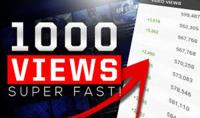 1000 مشاهدة علي اليوتيوب