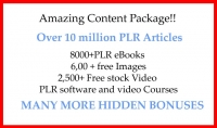 احصل على أكثر من 10 ملايين مقال PLR وكتب إلكترونية وأغلفة كتب وتدريب بالفيديو ومكافآت وهدايا