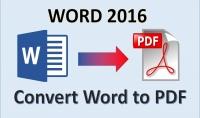 كتابة ملف WORD الي PDF