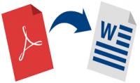 تحويل الملفات PDF WORD