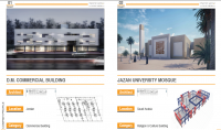 اعداد المخططات والتصاميم الانشائية والمعمارية والكهروميكانيكة ضمن فريق مهندسين متخصص لأعداد المخططات