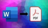 تحويل 25 صفحة من word إلى pdf