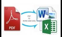 ادخال البيانات وتفريغها من ملفات PDF على Word او على لاكسل