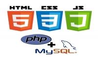 تطوير موقع باستخدام لغات:html -;css Jquery - Bootstrap - PHP