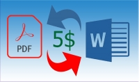 كتابة او تحويل 30 صفحة من الملفات pdf الى word والعكس فقط 5$