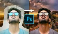 تصحيح الالوان عند دمج صورتين