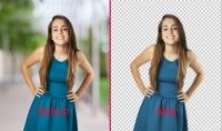 قص الصور ووضع خلفية جديدة بثمن مناسب