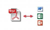 تحويل ملفات pdf إلى ملفات word excel power point