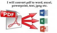 تحويل ملفات PDF الي ملفات ايكسيل Word  Excel وورد