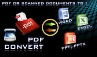 تحويل ملفات بصيغة PDF الي وورد Word و ايكسيل Excel و باوربوينت Powerpoint