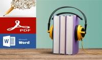 تفريغ النصوص الصوتية والمرئية إلى ملفات Word و PDF