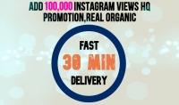إضافة 100 000 مشاهدة لفيديو الانستجرام
