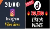 20000 مشاهدة انستقرام عالية الجودة