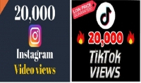 20000 مشاهدة انستقرام تيكتوك عالية الجودة