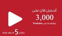 3000 مشاهدة يوتيوب ب 5$