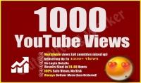 1000 مشاهدة آمنة و مستهدفة لفيديو قناتك على يوتيوب