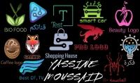 تصميم الشعارات  Logos  والعلامات التجارية بشكل احترافي