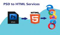 تحويل تصميم الموقع PSD الى اكواد HTML and CSS