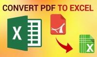 تحويل من pdf الى اكسيل