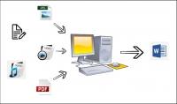 تحويل pdf او صور او اوراق او ملفات صوتية الى ملف word