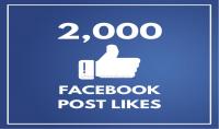 2000 فيسبوك بوست لايك