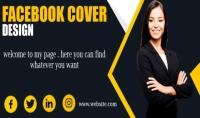 سوف اقوم بتصميم افضل غلاف لصفحتك على فيسبوك بجودة عالية وفي يوم واحد