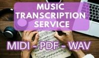 صنع transcription لأغنيتك وتحويلها ل MIDI   PDF   WAV