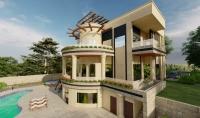تصميم معماري ثنائي وثلاثي الابعاد