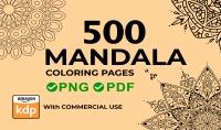 سأقدم لك 500 صفحة تلوين ماندالا Mandala