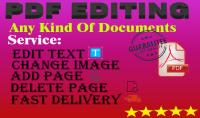 سأقوم بالتعديل علي ملفات pdf  تعديل المستندات