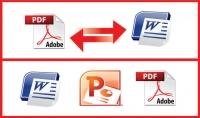 سأحول كلمة إلى pdf و pdf إلى وورد