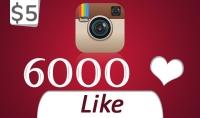 اضافة 6000 لايك حقيقي خالية من النقص لصورة أو فيديو لك على الانستقرام