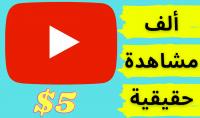 1000 مشاهدة حقيقية لفيديو يوتيوب خاص بك عن طريق التسويق على قناتي