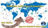 10000 زائر حقيقي لموقع الويب من جميع أنحاء العالم