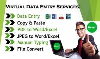 ادخال البيانات و التفريغ بالعربية الانجليزية ب 5$