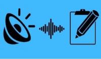 التفريغ الصوتي حيث اقوم ب كتابة الكلام المستخدم في الفيديوهات