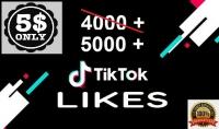 4000 تيك توك لايك عالية الجودة