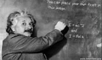 كتابه اي نص انت تريده مع صوره اينشتاين بشكل احترافي
