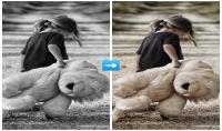 تغيير الالوان في الصورة من الابيض والاسود الي لون طبيعي
