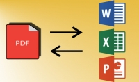 تحويل انواع الملفات الى PDF