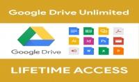 الحصول على مساحة غير محدودة على Google drive