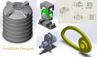 تصميم وتصنيع باستخدام الحاسب باستخدام برنامج SolidWork