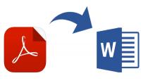 تحويل البيانات المكتوبة وملفات pdf الى Word او PowerPoint  50 صفحة