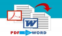 تحويل من ملف pdf إلى word 15 صفحة  مقابل5$